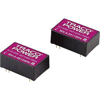 TracoPower TEN 6-4821WIN DC/DC converter (print) 48 Vdc 5 Vdc, -5 Vdc 500 mA 6 W No. of outputs: 2 x