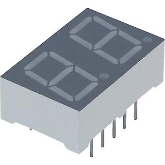 Seven-segment display Red 10 mm 2 V No. of digits: 2