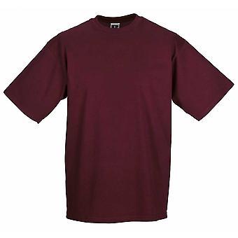Russel Collection Mens klassiska färger bomull Kortärmad Crew Neck T-Shirt