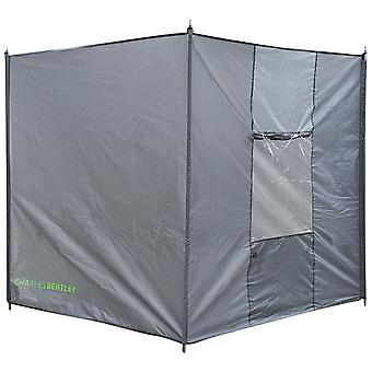 Charles Bentley 4 Pole Extra Tall Large Camping Beach Festival Windbreak Rain Wind Shelter - Grey