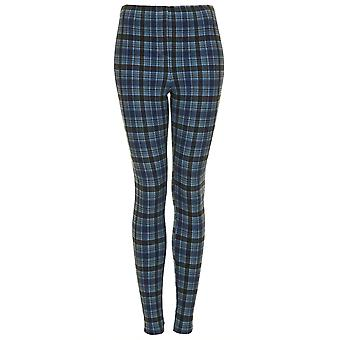 Topshop Tall Check Denim Leggings
