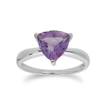 Gemondo Sterling Silver Amethyst February Trillion Ring