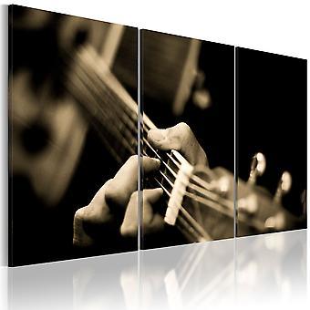 Stampa su tela - la magia del suono di una chitarra