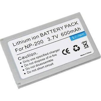 Camera battery Conrad energy replaces original battery NP-200 3.7 V