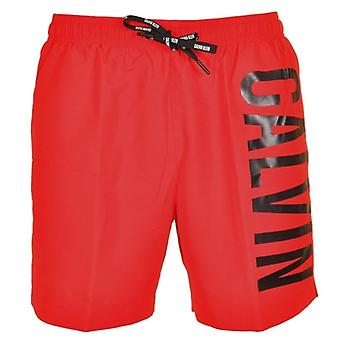 Calvin Klein Intense Power Swim Shorts, Red, X Large
