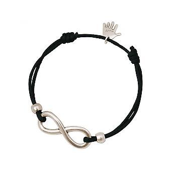 -Bracelet - WISHES - INFINITY - silver - grey