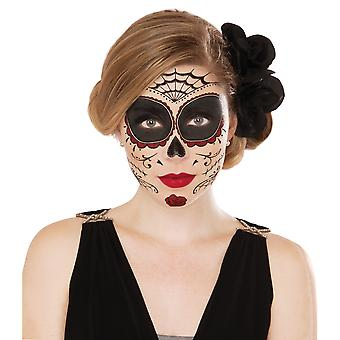 Classic Day Of The Dead Mexican Senorita Women Costume Temporary Face Tattoos