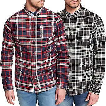 Brave Soul Mens Tame Long Sleeve Tudor Regular Fit Buttoned Shirt Top