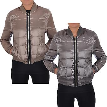 Puffa Womens Quilted Bomber Jacket Lightweight Padded Bodywarmer Coat