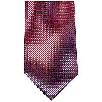 Knightsbridge Neckwear Small Pattern Tie - Red/Black