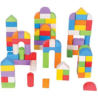 Bigjigs Toys aus Holz farbige Klick blockiert (100 Stück) Stapelblöcke