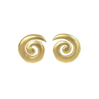 Cavendish French Sterling Silver and Gold Vermeil Spiral Stud Earrings