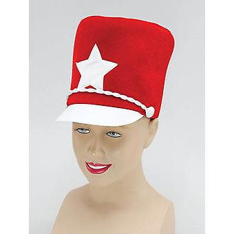 Majorette hoed. Rode zachte vilt.