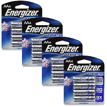Energizer L91 (4 Packs) Ultimate Lithium Battery AA Size