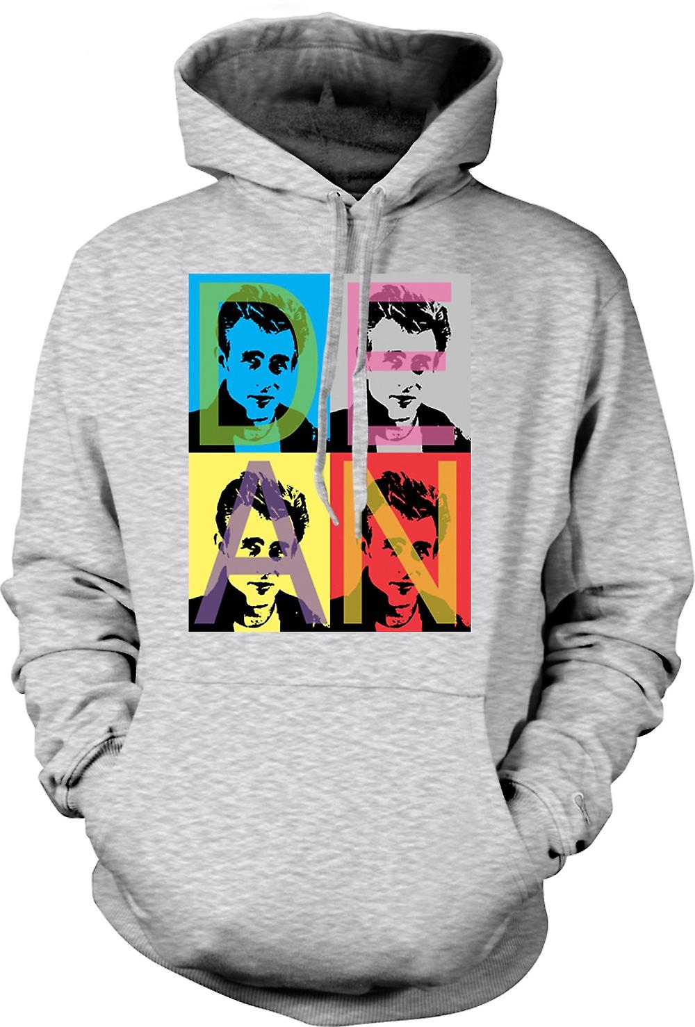 Mens hettegenser - James Dean Rebel - Pop Art - Warhol