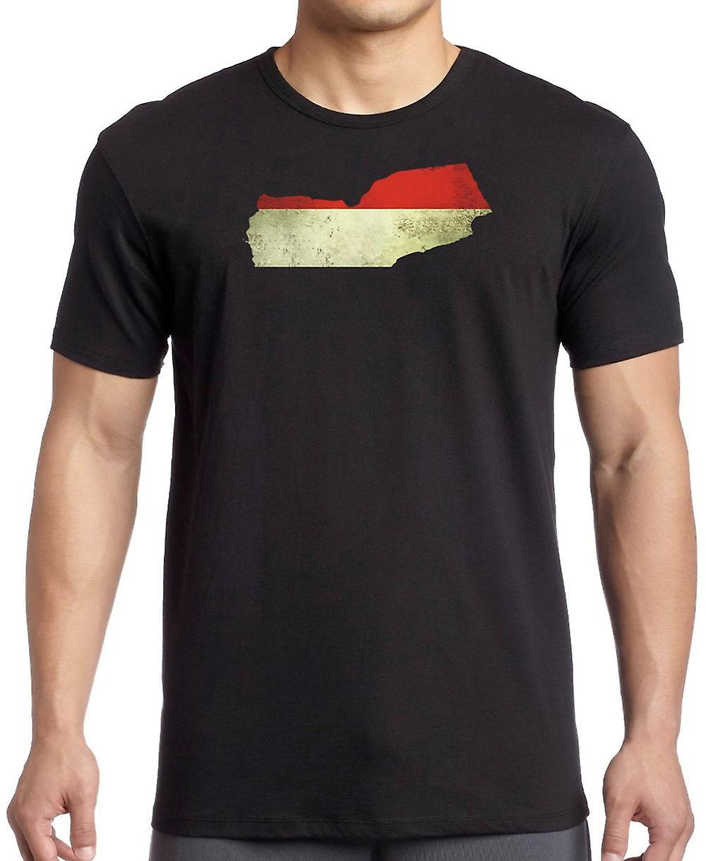 Yemen Flag Map Kids T Shirt