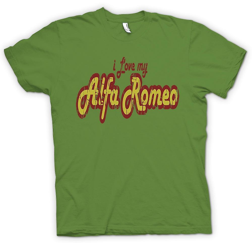Mens T-shirt - I Love My Alfa Romeo - Car Enthusiast