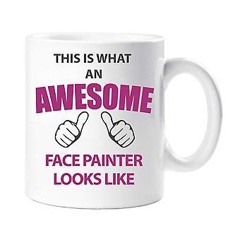 Visage génial peintre Mug