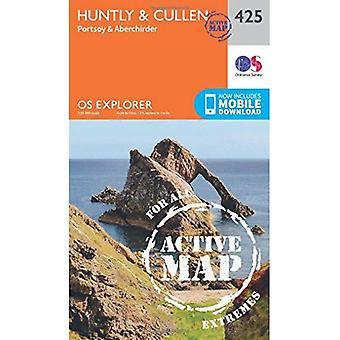 OS Explorer Map Active (425) Huntly and Cullen (OS Explorer Active Map)