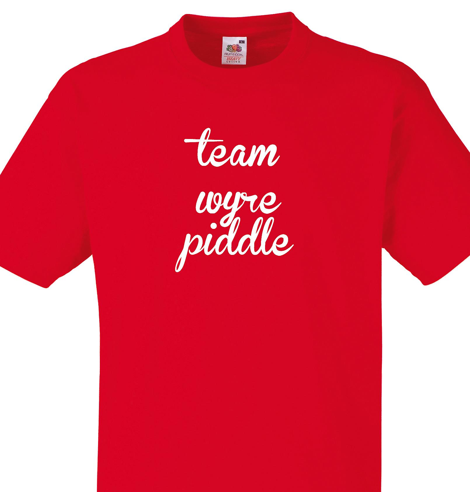 Team Wyre piddle Red T shirt