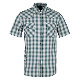 Diesel S-øst kort erme Camicia grønn sjekk skjorte
