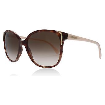 Prada PR01OS UE00A6 Spotted Brown / Pink PR01OS Round Sunglasses Lens Category 3 Size 55mm
