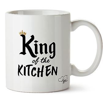 Hippowarehouse King Of The Kitchen Printed Mug Cup Ceramic 10oz