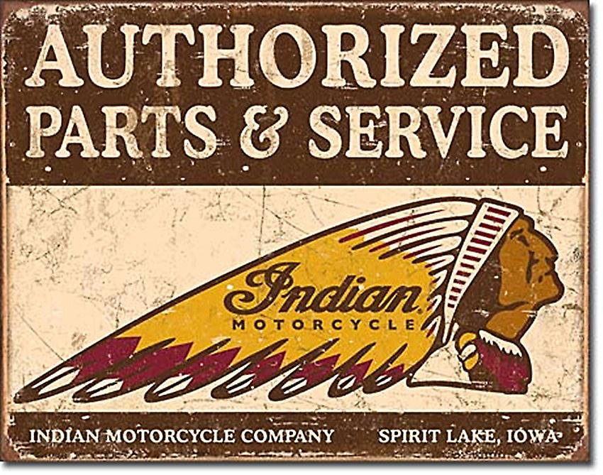 Indian Authorised Parts & Service Metal Sign    (de)