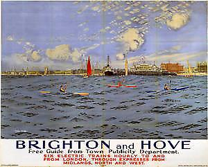 Brighton & Hove (old rail ad.) fridge magnet