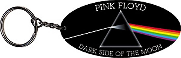 Pink Floyd DSOTM oval PVC flexible keyring (mm)