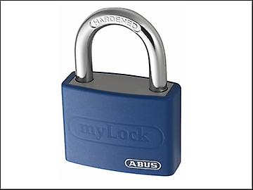 ABUS T65AL/40 40mm My Lock Aluminium Padlock Blue Body 50008