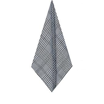 Dobell Mens Black and White Handkerchief Prince of Wales Check