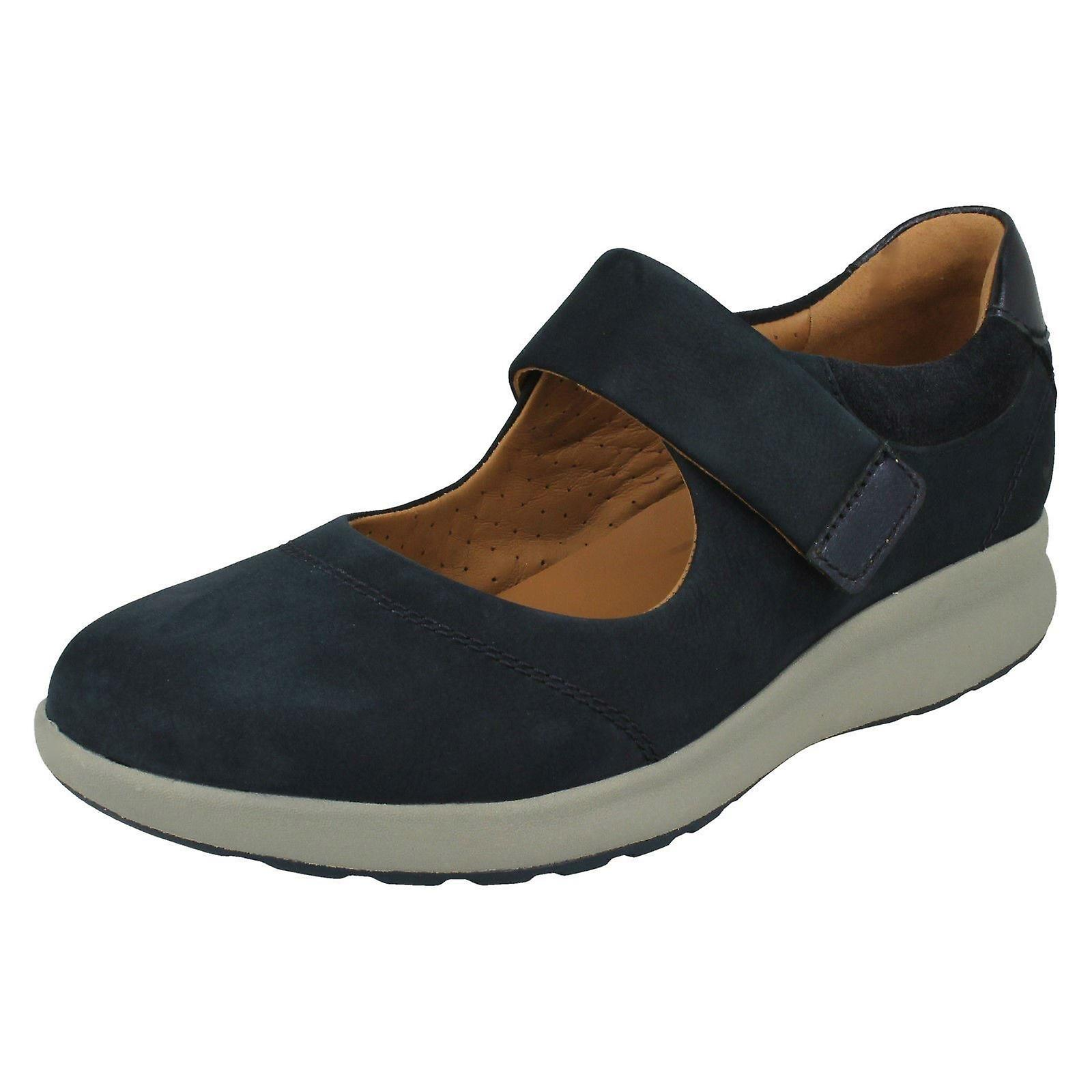 Ladies Clarks Casual Flat Mary Jane chaussures Un Adorn Strap