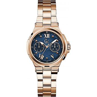 Watch GC Y29003L7 - dater steel gold Rose wife