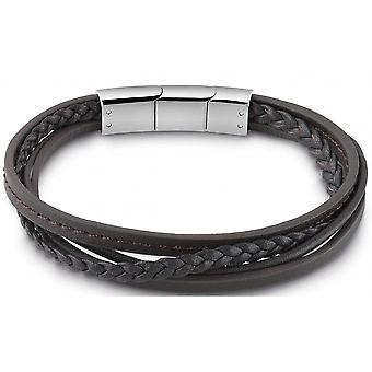 Guess jewelry UMB28041 bracelet - Brown multi HM links leather man