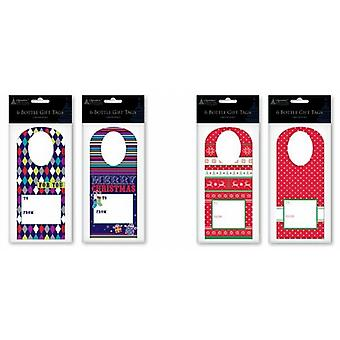Christmas Bottle Collar Gift Tags 24 Pack - (TBTL)