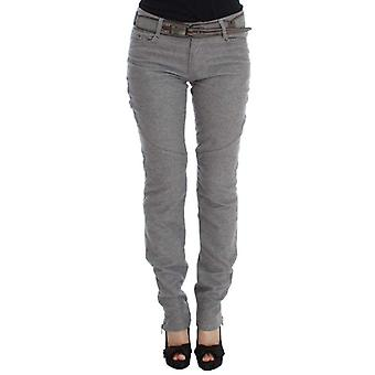 Ermanno Scervino Gray Cotton Slim Fit Casual Bootcut Pants -- SIG3241776