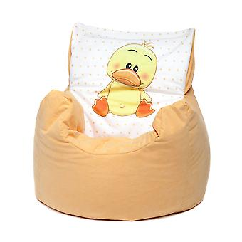 Loft 25® Toddler Animal Print Soft Plush Bean Bag Chair-Duck, Yellow