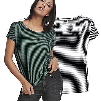 Urban Classics Ladies-Yarn Dyed Baby Stripe Top Shirt