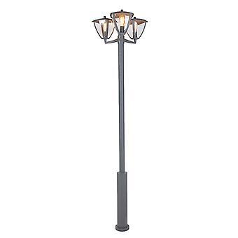 QAZQA lanterna exterior moderno polo 3 cinza escuro - Platar
