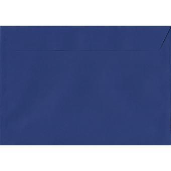 Victory Blue Peel/Seal C4/A4 Coloured Blue Envelopes. 120gsm Luxury FSC Certified Paper. 229mm x 324mm. Pocket Style Envelope.