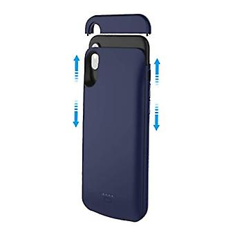 Stuff Certified ® iPhone XS 4000mAh Slim Powercase Powerbank Charger Cover Case Case Blue