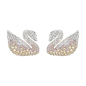 Swarovski Iconic Swan Earrings - large - multicolored - rhodio plating