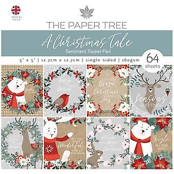 The Paper Tree 5in x 5in Sentiment Topper Pad 160gsm 64 Sheets | A Christmas Tale