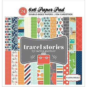 Bloc de papier Carta Bella 6 « X 6 » 24/Pkg-Travel Stories TS40015