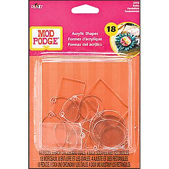 Mod Podge 3D Shapes Basics Flat & Charms 18 Pkg Mp3d 12918