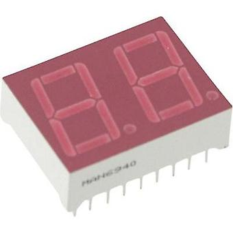 Seven-segment display Red 14.22 mm 2.5 V No. of digits: 2 Everlight Opto