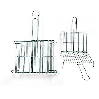 Comgas Tinned double 40x45 grid. (Garden , Barbecues , Cooking tools)