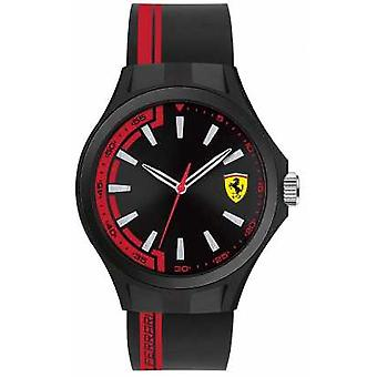 Scuderia Ferrari Mens Pit Crew Black Rubber Strap Black Dial Black Case 0830367 Watch
