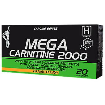 Beverly Nutrition Mega Carnitine 2000 (Choline, Inositol & Guarana) Naranja 20 Ampollas